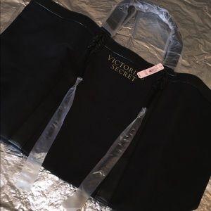 Victoria's Secret large black tote bag NWT